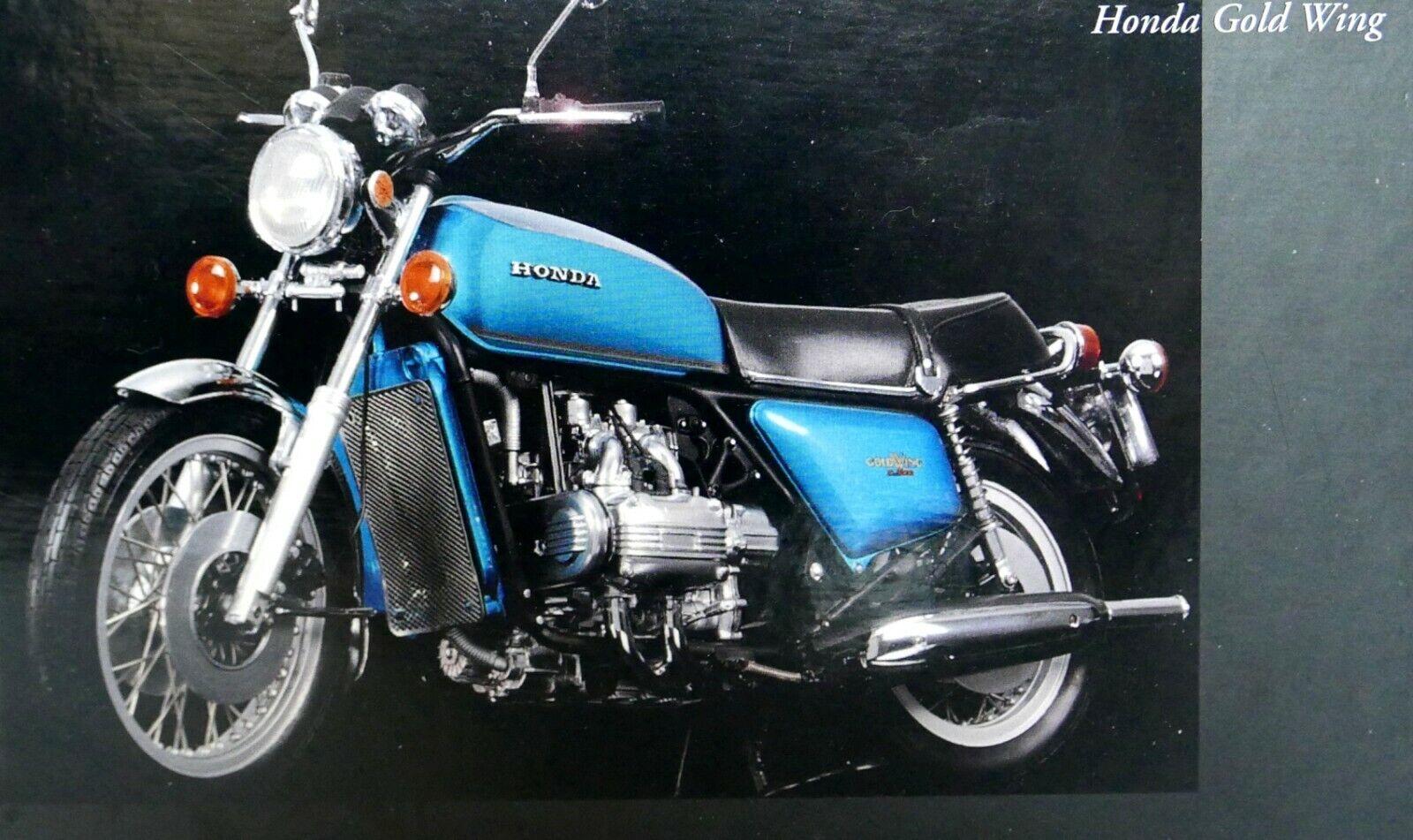MINICHAMPS 1 12 MOTO HONDA or WING 1975  bleu vert NEUF 122161600 Premier raaaare  designer en ligne