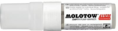 MOLOTOW 411EM - EMPTY POCKET PUMP MARKER PEN - 15MM NIB