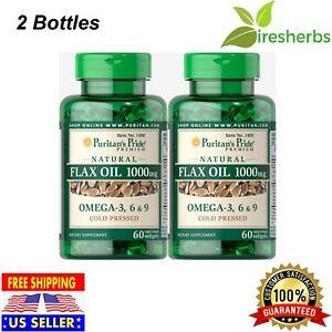Flax Oil 1000mg Omega 3 6 9 Fatty Acids Heart Skin Health Supplement 120 Soft Ebay