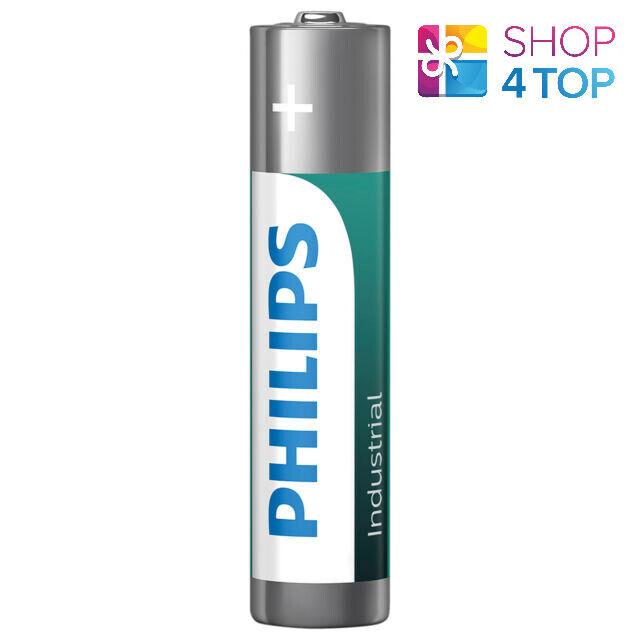 Philips Industrial Alkaline AAA Batteries LR03 Micro lasting up to 2030 NEW