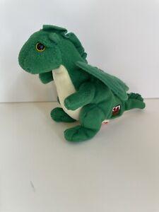 """TY Beanie Baby DEWI Y DDRAIG the Green Dragon UK Exclusive 5"""" Inch Plush 2010"""