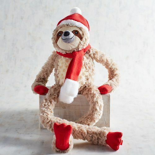 NEW Pier 1 Scully the Sloth Plush Christmas Stuffed Animal Hard to Find Gift