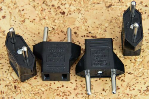 4 X 110V to  220V Travel Prong Plug Charger Adapter For Use in EU