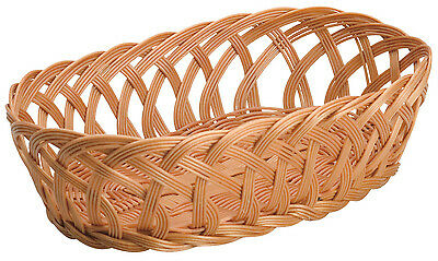 Korb Geflochten Braun Oval Oval Brown Woven Basketball Attractive Fashion Home & Garden Piazza Effepi