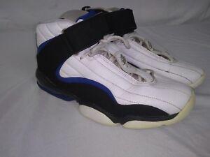 cc417f65d767 Nike Air Penny IV 4 White Black Blue Orlando Magic 864018 100 SZ 10 ...