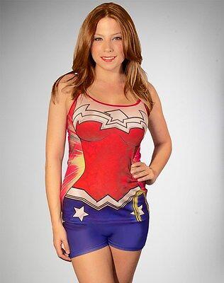 DC Comics WONDER WOMAN PAJAMA SET Justice League HALLOWEEN COSTUME or PAJAMAS