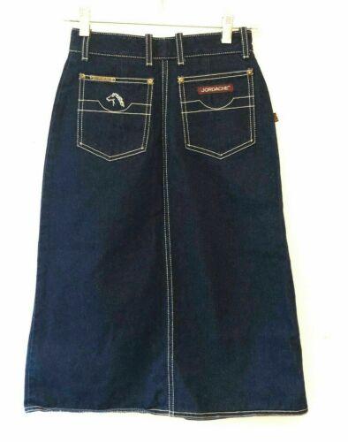 Vintage 80s Jordache Dark Denim Skirt High Waist P