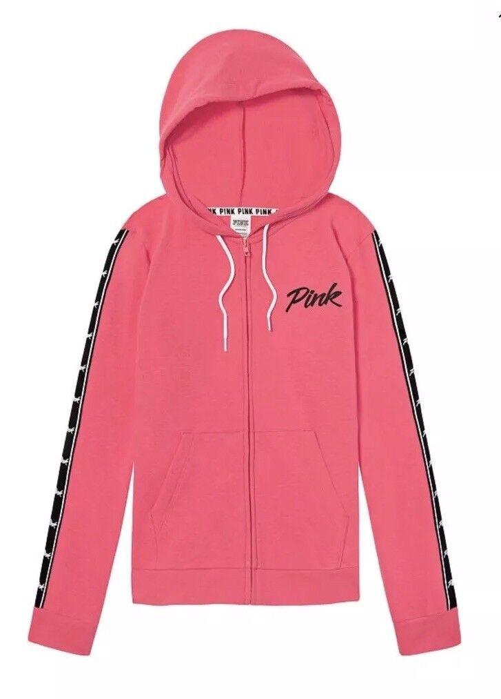 Victoria's Secret rosa Perfetto Completo Felpa con con con Cappuccio Zip  Taglia Large 9d7d10