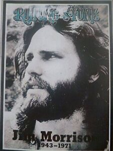 The Doors' Jim Morrison, August 1971 - Rolling Stone Cover