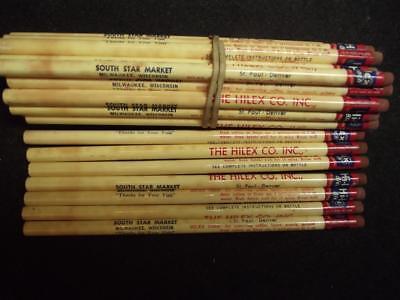 Group of . 3 pencils The Hilex Co INC,Bleach Vintage Advertising Pencils,