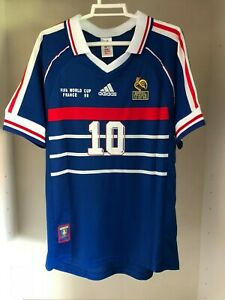ADIDAS-Camiseta-FRANCIA-mundial-1998-ZIDANE-10-HENRY-12-NUEVA