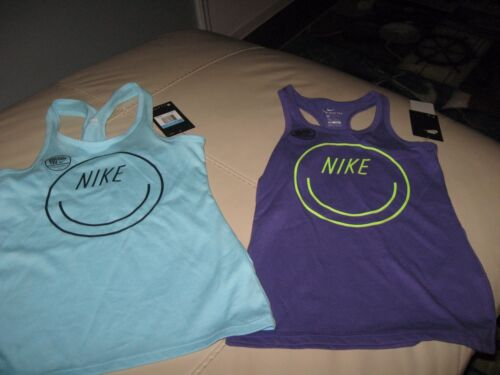 MSRP-$20.00 NIKE Girl/'s Smiley Face Racerback Cotton Tank Top
