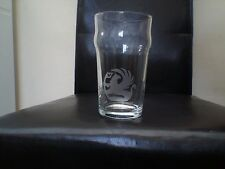 Vauxhall Etched Engraved Beer Pint Glass