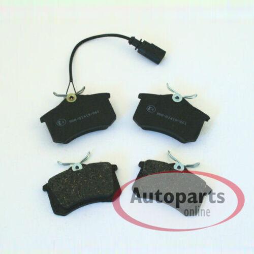 Bremsklötze Bremsbeläge Warnkontakte für hinten Hinterachse VW Polo 9N