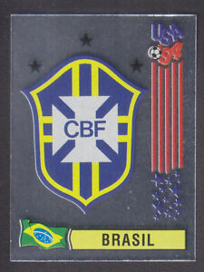 Panini-USA-coupe-du-monde-94-94-Brasil-FOIL-BADGE-Vert-Arriere