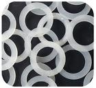 Set 12 Pezzi Guarnizioni Silicone Trasparente Idraulica Sanitari Bagno 25mm dfh