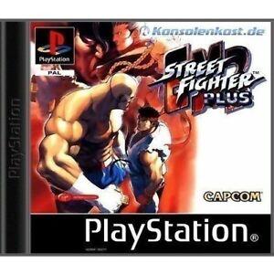 Ps1-Sony-PlayStation-1-juego-Street-Fighter-ex2-Plus-con-embalaje-original-OVP-danado