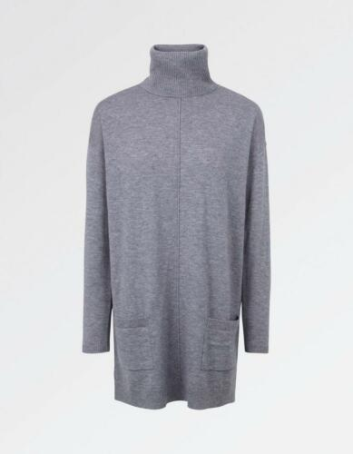5052750843692 Rrp Papavero 55 Grey Uk Rollneck Jumper Fat Face 8 Smoke Longtail £ OHBB7