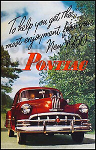 1952 Pontiac Owners Manual Chiefton Catalina Sedan Del