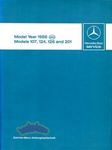 SHOP MANUAL SERVICE REPAIR 1988 MERCEDES BOOK TECHNICAL INTRODUCTION