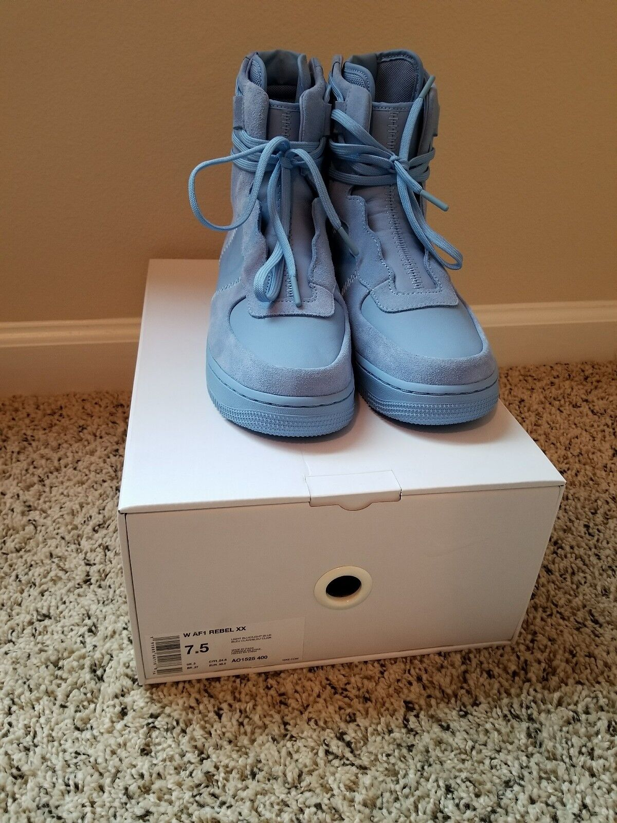 Nike Air Force 1 Rebel XX High - Ocean-bluee - FOR QUEENS - BNIB - SIZE 7.5