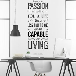 Details About Nelson Mandela Inspirational Motivational Wall Decal Quote Art Home Office Decor