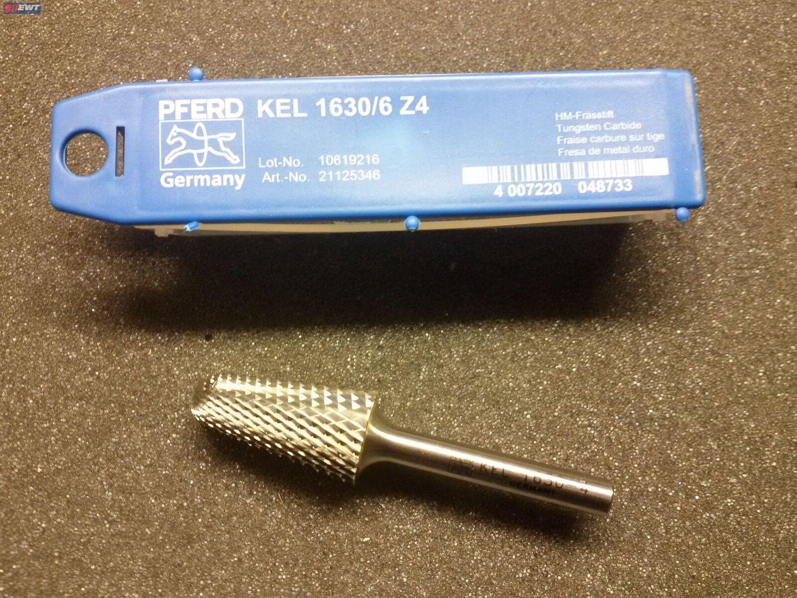 PFERD 21125346 KEL 1630/6 Z4 HM- Frässtift Rundkegelform