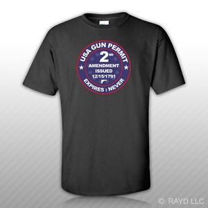 USA-Gun-Permit-2nd-Amendment-T-Shirt-Tee-Shirt-Free-Sticker-2a-gun-rights