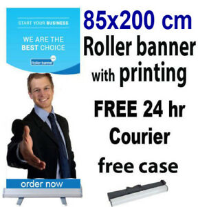 85x200cm-Roller-Banner-Print-Pull-Up-POP-Up-Exhibition-Stand-Free-24hr-Shipping