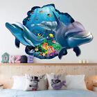3d Ocean Dolphin Removable Vinyl Decal Wall Sticker Art Mural Room Decor