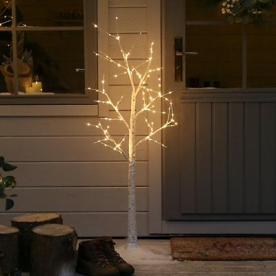 LED Light Up Pre Lit Birch Twig Tree Decoration | Christmas Indoor Home Nordic