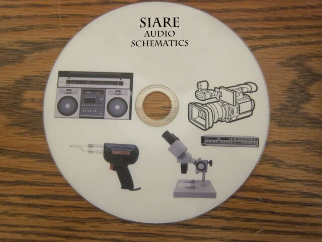 Siare Audio Repair Service Schematics On 1 Dvd In Pdf Format