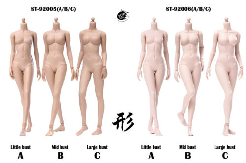 POPTOYS 92006A 1//6 Pale Little Bust Female Action Figure Body Improved Version