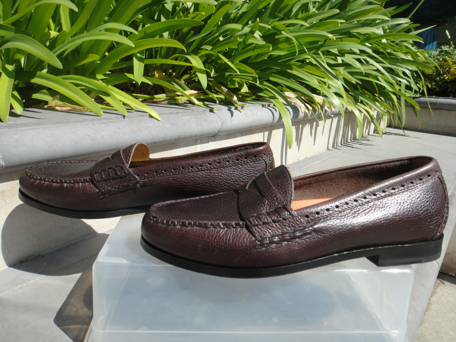Cole Haan Grand.OS Pinch Penny Loafer, Tumbled Pelle, Mns US Sz 10D