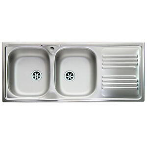 Lavello da cucina acciaio inox Apell Atmosfera 116x50 con ...