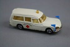 V549 Majorette 1/65 ref 206 rare voiture DS21 citroen ambulance comme neuve ++