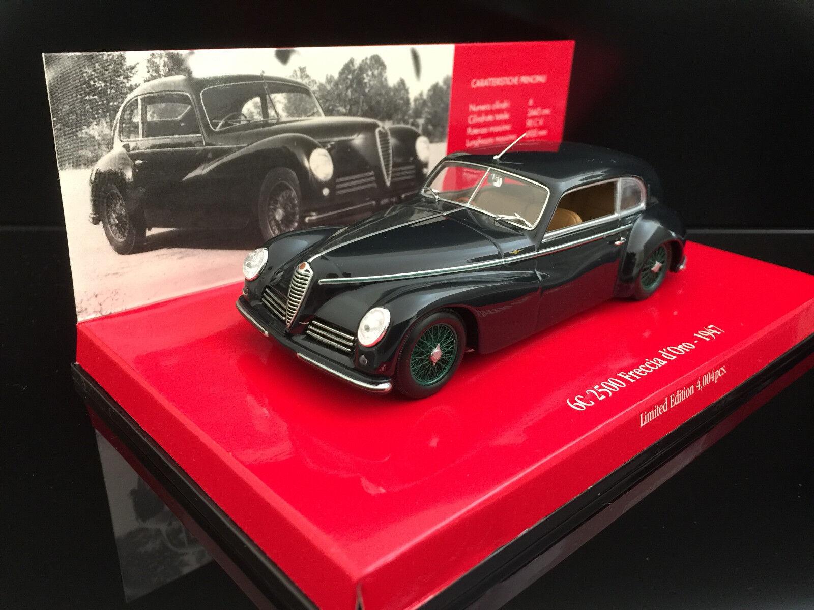 1 43 Minichamps Alfa Romeo 6c 2500 Freccia d 'oro, 1947, azul oscuro