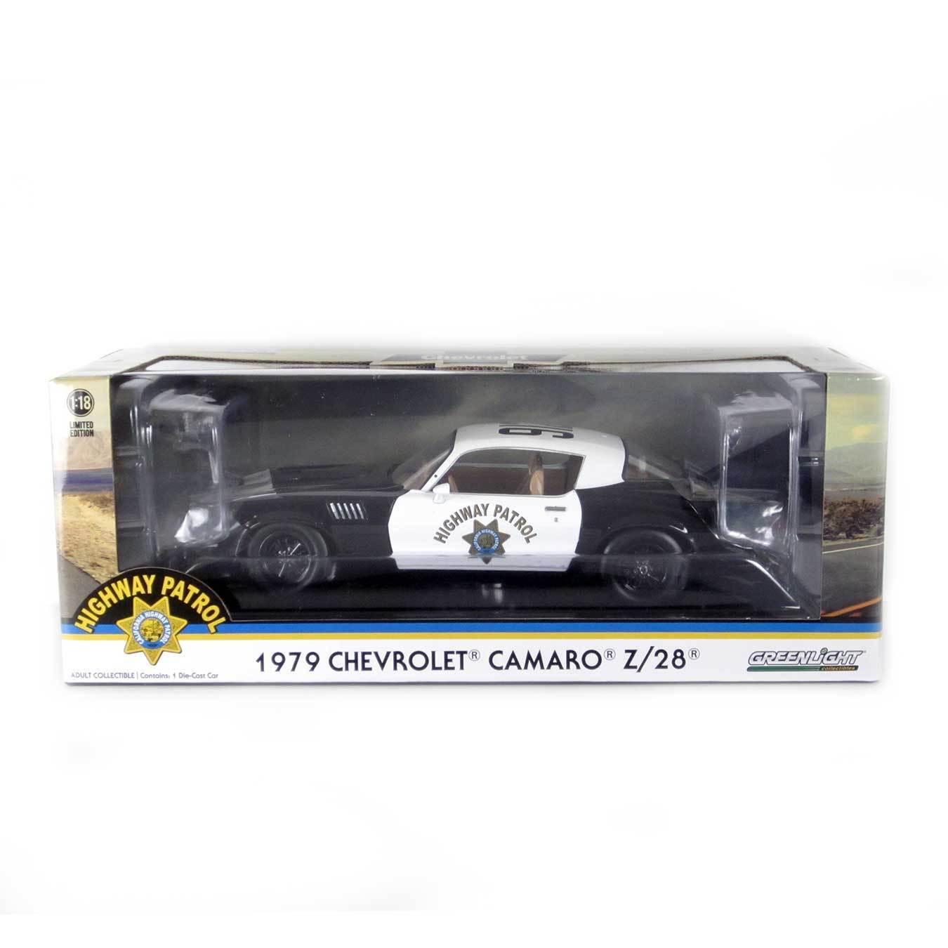 Greenlight  1979 Chevy Camaro  CHP  1 18 Scale