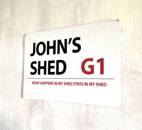 Personalised Shed London style street sign A4 metal plaque decor