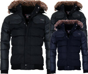Geographical-Norway-Chaqueta-de-invierno-hombre-Parka-Forro-Calido-Bomber