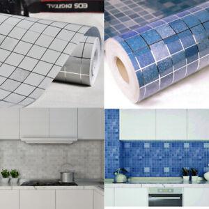Mosaic-Self-Adhesive-Wallpaper-Kitchen-Bathroom-Wall-Tile-Stickers-Vinyl-Foil