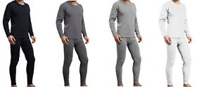 Mens-Winter-Ultra-Soft-Fleece-Lined-Thermal-Top-amp-Bottom-Long-John-Underwear-Set