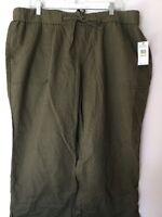 Jessica Simpson Cecil Beach Green Pants Junior Plus 18w