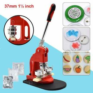 1.45/'/' 37mm Button Maker Badge Punch Press Machine 300PC Parts Supplies DIY Tool