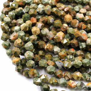 Green Rhyolite Jasper Nugget  Beads 8mm 16mm