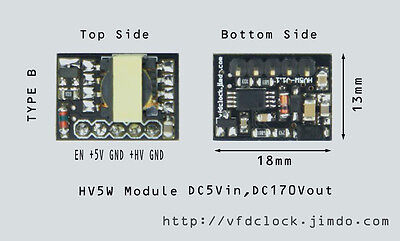 [Type B]-5Vin-170Vout-HV5W HIGH VOLTAGE NIXIE POWER SUPPLY MODULE-NIXIE TUBE ERA