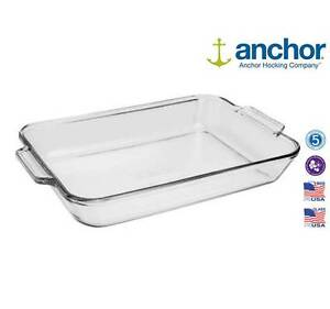 Anchor-Hocking-81936-Large-Glass-Rectangle-Baking-Dish-Oven-Tray-Brand-New