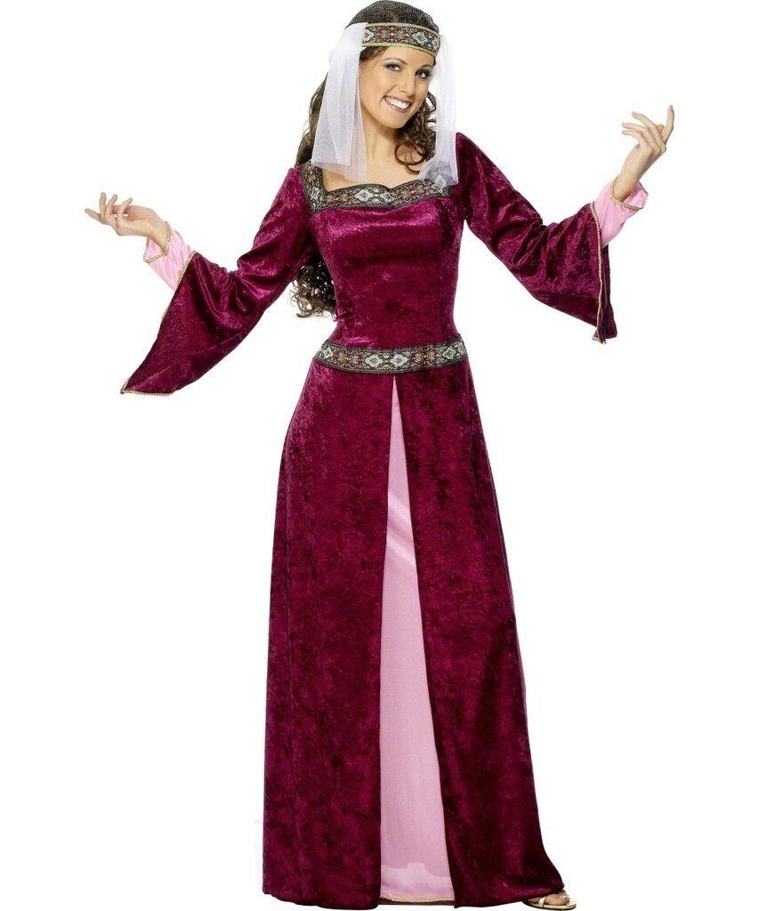 Sexy Halloween Adult Medieval Maid Marian Renaissance Maiden Costume