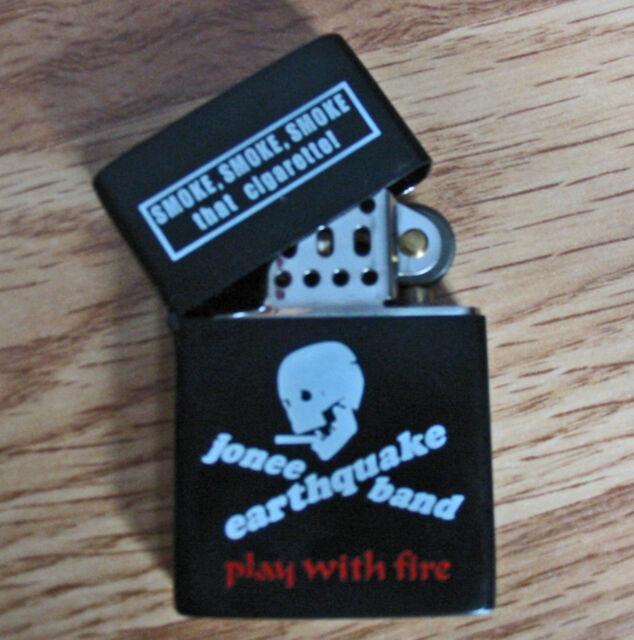 Jonee Earthquake Band FLIP TOP LIGHTER Punk Surf Rockabilly Garage Boston PROMO