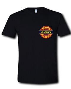 DeSoto-Service-Plymouth-Sign-Logo-Chrysler-Car-POCKET-SIDE-Black-T-Shirt-S-2XL